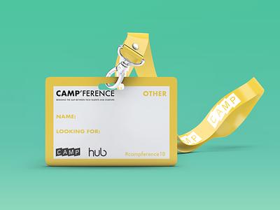 Name-tag | Camp'ference tag name tag startup print card design card design card illustrator indesign print design colorful graphic design design print