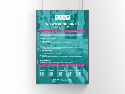 Poster   The Camp printet material design entrepreneur startups networking community networking event event design graphic design print design print