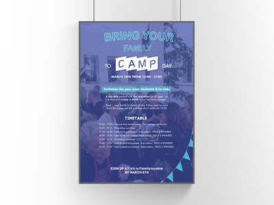 Poster   The Camp printet material event design event community startups bring your family to work family and work work family poster design poster print design print graphic design design