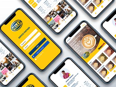 Mobile app | Hella Service Partner mechanics concept concept development digital marketing social media marketing social media marketing hella service partner app application mobile design mobile app mobile ui