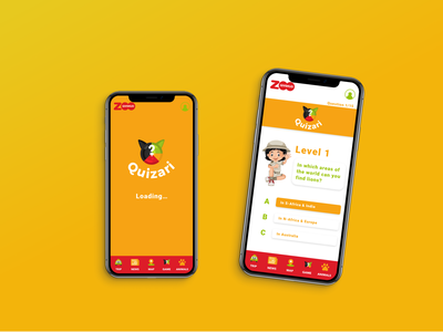 App Game | Givskud Zoo | Quizari green yellow game design questions kids children application game app game educational game education questionary game app app design application design ui illustration colorful application design