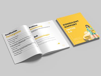 User Research Report | Netto 3.0 netto 3.0 discount store grocery store denmark netto yellow design illustration colorful indesign report design report graphic design print design print