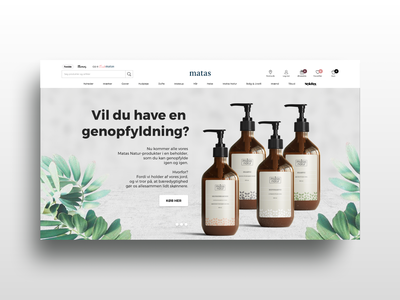 Landing page | Matas Natur web web design website graphic design recycle organic sustainability sustainable green solutions green campaign website home page emballage product packaging packaging design product design campaign landing page design landing page