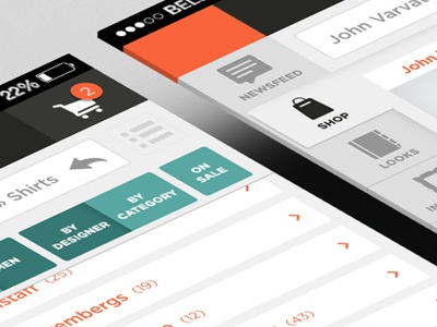 User Interface ui ux design app ios flat minimalistic interface fashion buttons icons kit