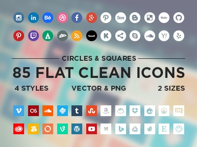 Flat Minimalistic Social Icons icons flat social minimal instagram flat icons social icons minimalistic facebook twitter icon vector