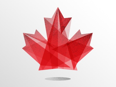 Happy 147th Birthday Canada! canada birthday canada day maple leaf flag illustration geometric canadian