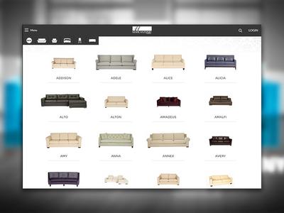 Catalog UI Design ui ux furniture catalog webdesign browse products grid minimalist clean