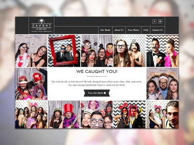 Caught In The Act ui ux webdesign interface photography retro fun grid photobooth rwd responsive