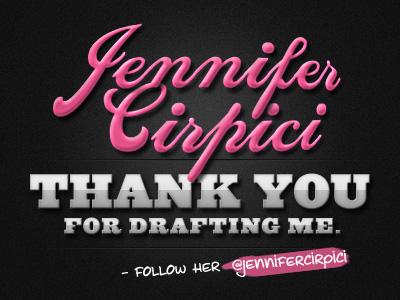 Thank You Jennifer Cirpici dribble drafted thank you jennifer cirpici digital art graphic design