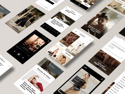 Vogue Polska APP mobile ui design uidesign application app design mobile app design mobile app app mobile fashion grid ui