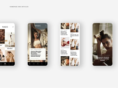 Vogue Polska APP mobile design mobile app design mobile ui uidesign fashion vogue application app design web app icon ux grid ui