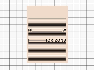 poster new horizons letters typography typo minimal pink graphic design graphic paper plakat poster