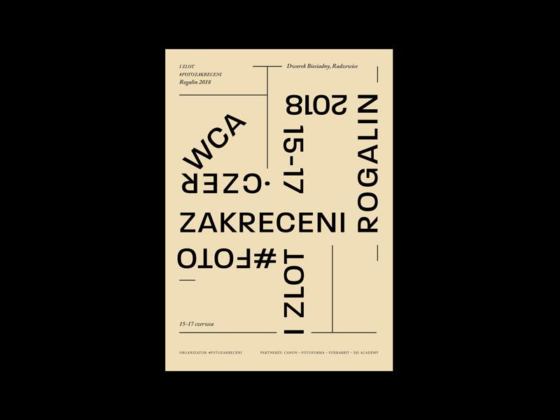 Fotozakreceni typography typo poster plakat paper letters graphic design graphic