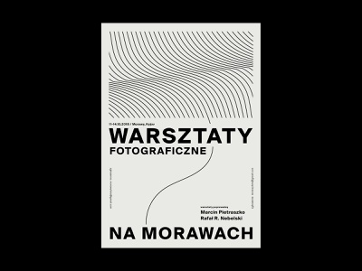 photo workshop in Moravia grid design lines abstract gray plakat poster typography illustration paper letters visual identity
