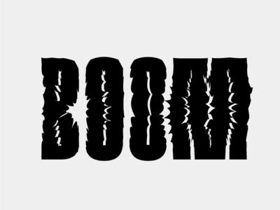 Boom black boom type typeface logo design graphic gray minimal illustration typography letters branding visual identity