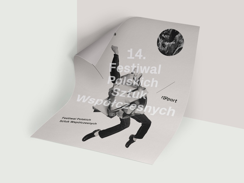 Festival poster collage typo logo gray plakat graphic poster design typography illustration paper visual identity