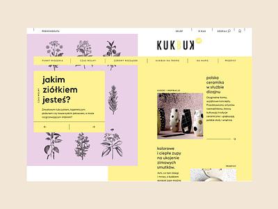 Kukbuk website interface concept colors web grid ux ui design illustration typography visual identity