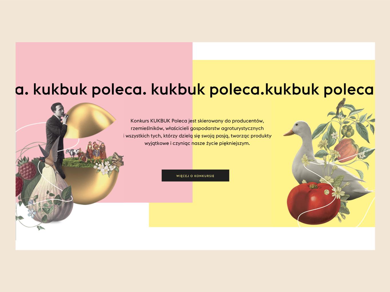 Kukbuk website uidesign foodie website design food website illustration ux ui design typography grid visual identity