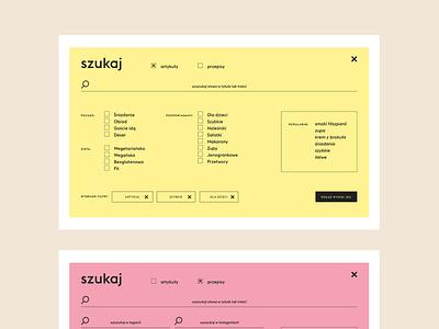 Kukbuk website menu webdesign uidesign ux ui grid kukbuk website foodie food design finder menu
