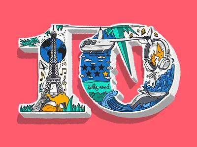 BucketList - 10 branding europe custom hand lettering procreate graffiti digital graffiti lettering illustration design