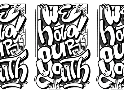 WE HAD OUR YOUTH branding custom music procreate graffiti digital hand lettering illustration graffiti lettering design