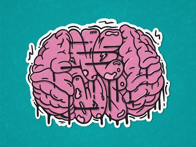 Brain News - Sticker branding handpaiting hand lettering procreate design stickers graffiti digital custom graffiti lettering illustration