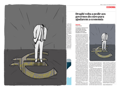 Euro Illustration europe euro design lettering jornalpublico graffiti digital graffiti newspaper illustration