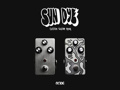 Sun Dye - Custom Guitar Pedal graffiti molotow montana custom sundye guitar pedal music guitar design lettering illustration
