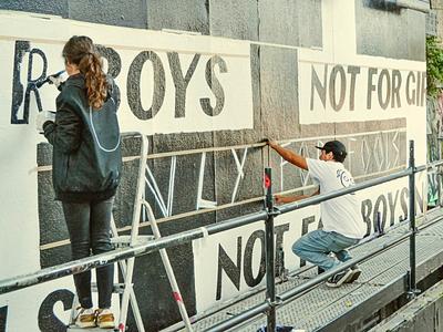 Not For Boys, Not For Girls, Only For Fools music lisbon hand lettering studiohumana jaak europe graffiti illustration lettering design