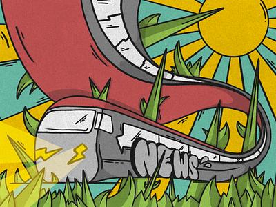 News on a Tain procreate app procreate music europe design trains lettering graffiti illustration
