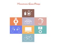 Monochrome Guess Design