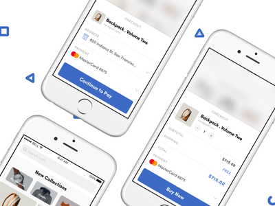 Social Shopping App - Throwback social shopping shop product ios force touch feed commerce collections checkout card ui buy now