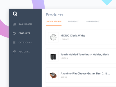 Seller Dashboard platform web ux ui products data payments manage create e-commerce dashboard web app