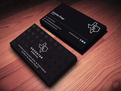 Black & White Card black  white black brand professional design minimalist business cards business card design businesscard
