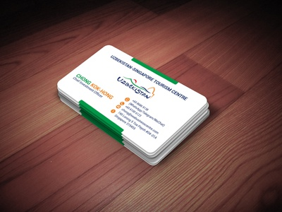 Colorful, yet minimal, business card