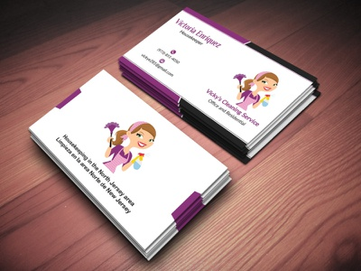 Business Card for Cleaning Company. minimalist brand business card professional design professional business card graphicsdesign design business cards business card design businesscard
