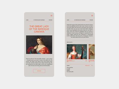 Orpheus black elegant minimal music app music opera typography interaction ui ui design mobile app branding design