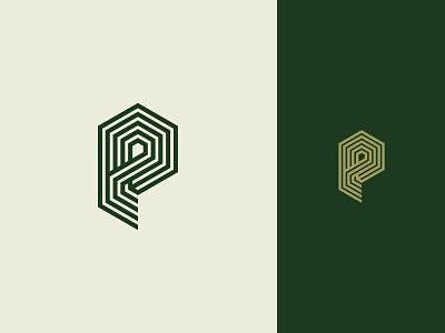P Monogram monogram hexagon stipe