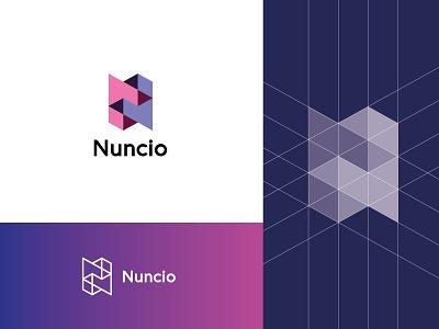Nuncio sharp 3d monogram n