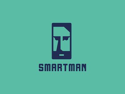 Smartman beard people human smartphone