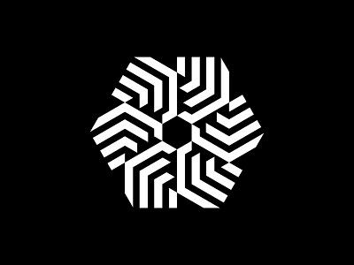 Hexa Rosa stripes geometic rose hexagon