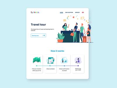 Travel tourism design ui web tourism travel