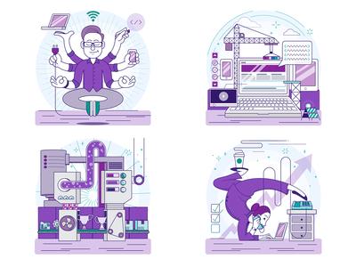 Corporate Values Illustrations