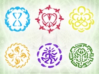 Yoga Meditation Mantra Icons