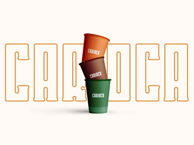 Cafeteria Carioca - Coffeeshop coffeeshop coffee logotype logotipo logodesign logo design branding brand