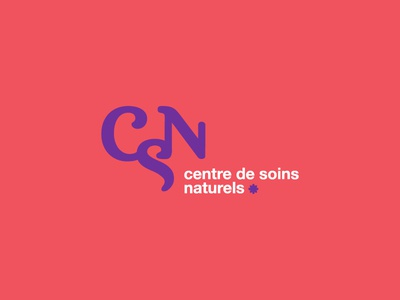 Natural Healing Center rejected logo logotype identity branding natural health zen purple