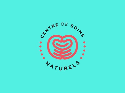 Natural Healing Center rejected logo logotype identity branding natural health zen turquoise