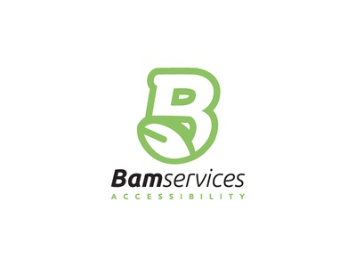 Bam Services Accessibility accepted  logo  logotype identity branding green leaf b accessibility disabled