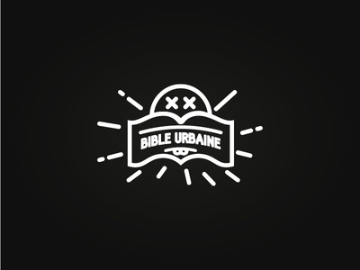 Bible Urbaine rejected logo logotype identity branding bible urban book typography black white culture blog