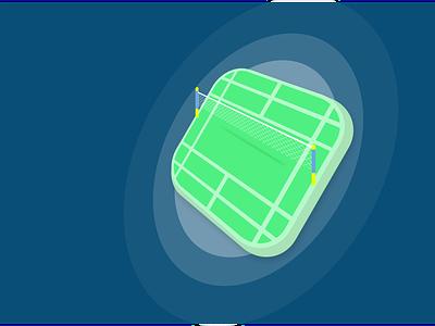 CourtOn - Badminton Application App logo vector badminton app ui illustration design